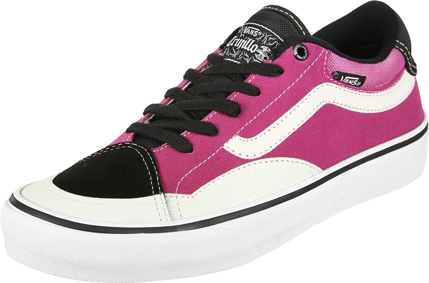 e5be32d626a7c0 Amazon.com  Vans TNT Advanced Prototype Black Magenta White Men s Skate  Shoes Size 11  Clothing