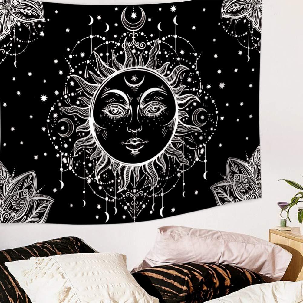 bohemio decoraci/ón del hogar dise/ño hippie de tela de poli/éster Onewell Tapices psicod/élicos tapiz para colgar en la pared A1