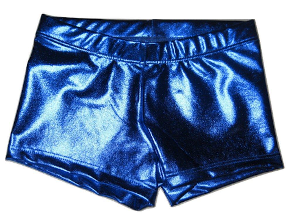 Little Cutie Girls Metallic Activewear Booty Shorts Dance Gymnastics