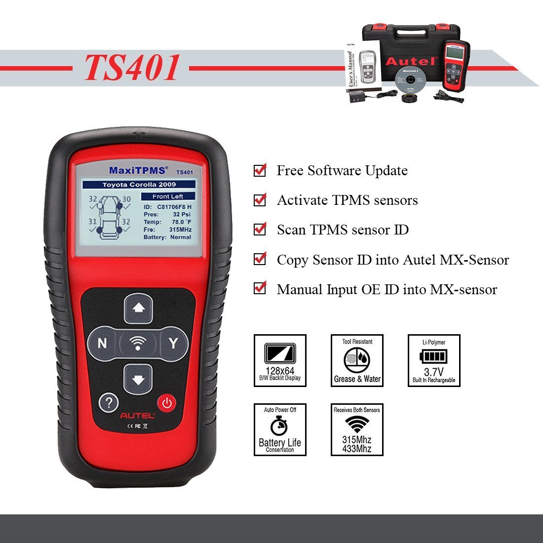 Autel TS401 MaxiTPMS Activation Tool with MX-sensor Programming Service by Autel (Image #2)