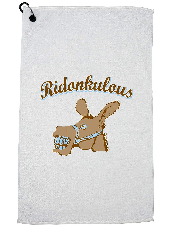 Hollywood Thread おもしろいRidonkulous Donkey Word Play ゴルフタオル カラビナクリップ付き   B07GH6LMCJ