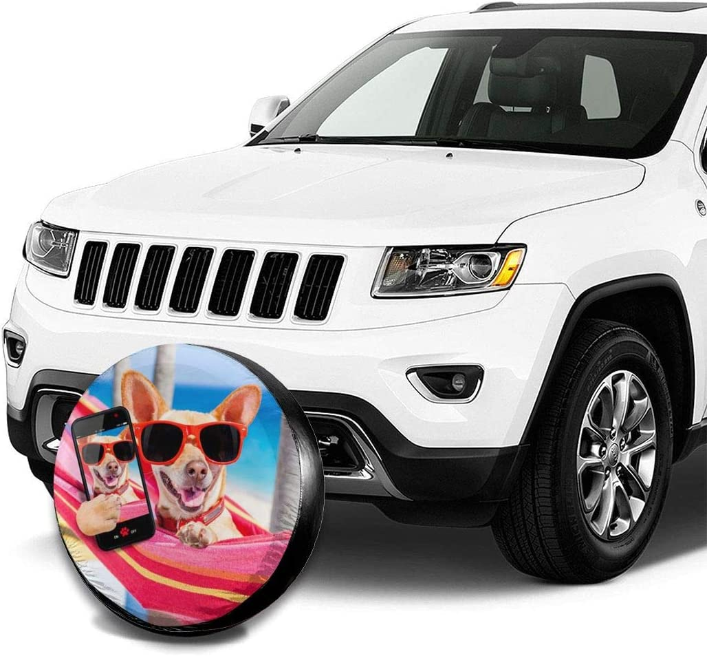 RV PFENK Car Tire Cover Sunscreen Protective Cover Chicken Chick Waterproof Universal Spare Wheel Tire Cover Fit for Trailer SUV and Various Vehicles 14 15 16 17 Inch