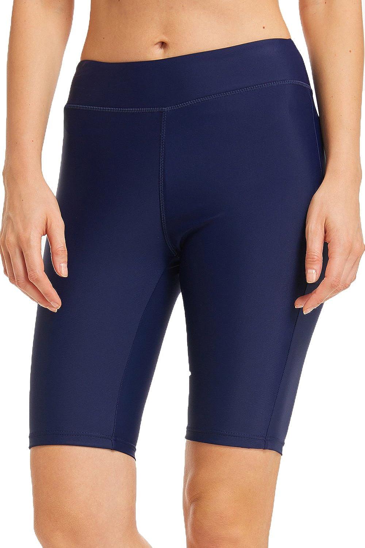 Wetopkim Damen Badeshorts Lang Schwimmshorts Schwimmhose Wassersport Boardshorts UV Schutz