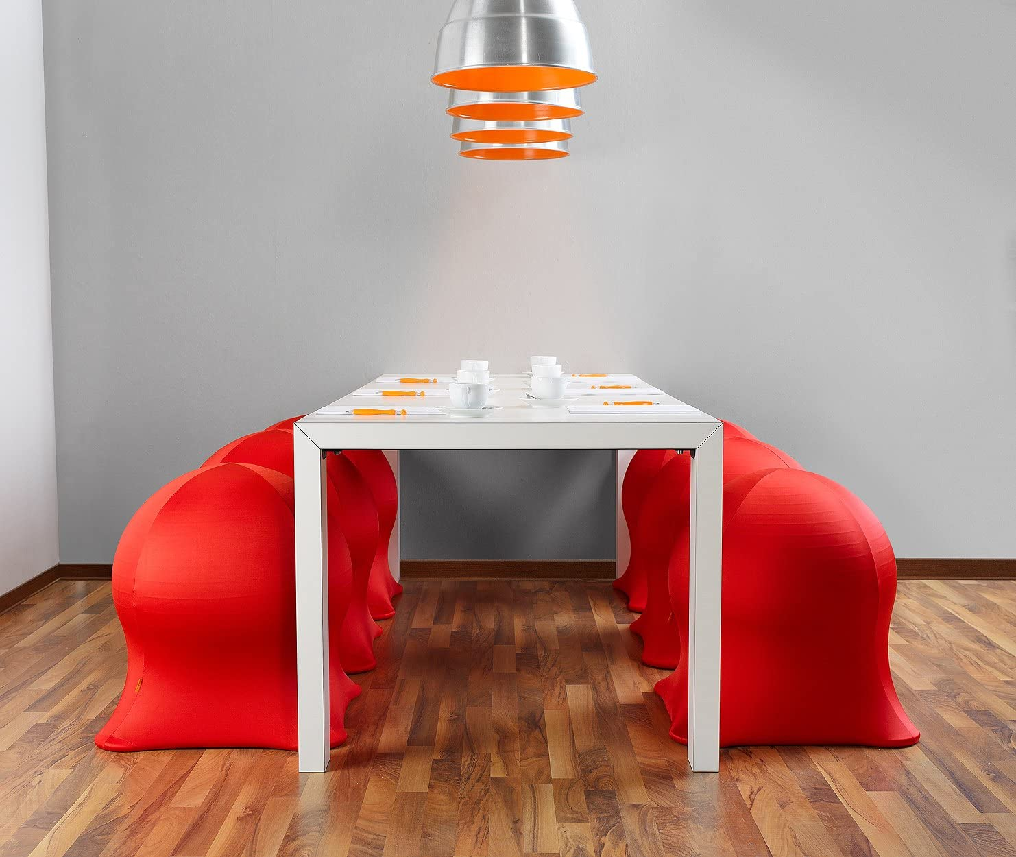 JellyFish Easychair Grand Tabouret Rouge