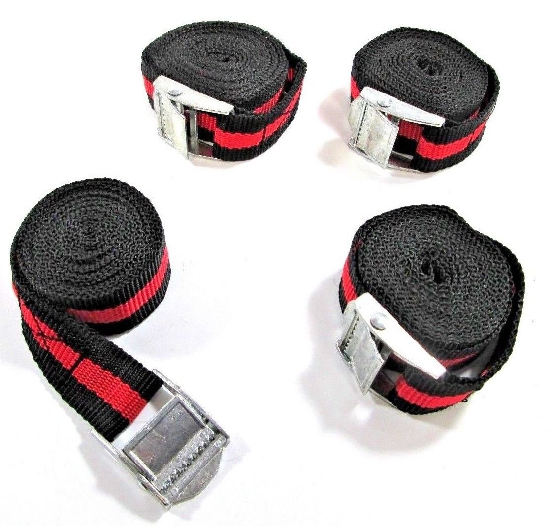 PACK CAM BUCKLE TIE DOWN STRAPS ROOF RACKS TRAILERS 38//25MM X 5M LONG