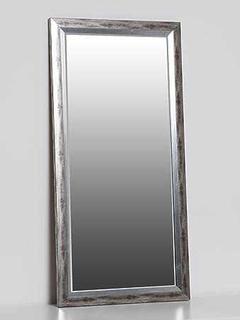 Wandspiegel Silber 80 X 40 Cm Mit Elegantem Und Schlichtem Rahmen