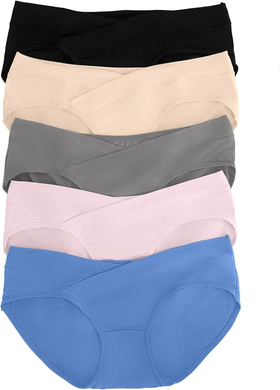 Kindred Bravely Under The Bump Maternity Underwear/Pregnancy Panties - Bikini 5 Pack