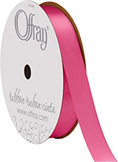 """product image for Offray Berwick 5/8"""" Single Face Satin Ribbon, Hot Pink, 20 Yds"""