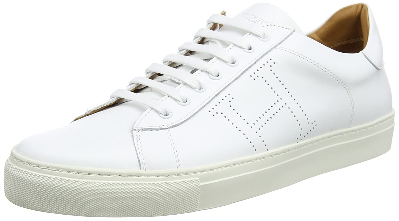 Hackett London Basic Blucher, Zapatos de Cordones Derby para Hombre 42 EU|Blanco (White)