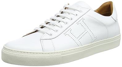 Hackett London Hackett Basic Blucher, Derbys Homme, Blanc (White), 45 EU