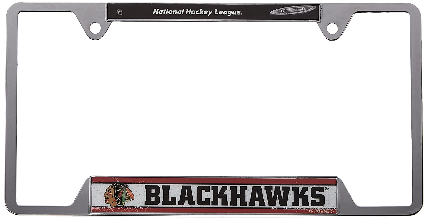 Unique Chicago Blackhawks License Plate Frame Composition - Framed ...