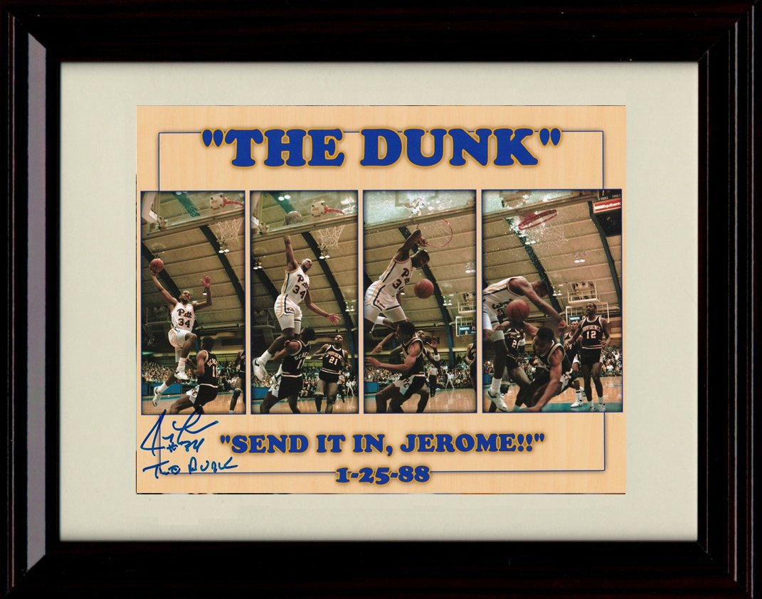 Framed Jerome Framed Lane The Dunk Autographレプリカ印刷 Jerome – Pitt Panthers Panthers B07DDMJN6L, ユアーズサービス:91182ef0 --- hanjindnb.su