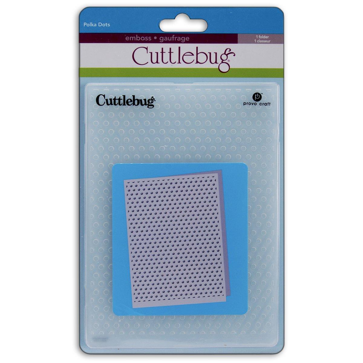Cuttlebug 5-Inch-by-7-Inch Embossing Folder, Polka Dots by Cuttlebug