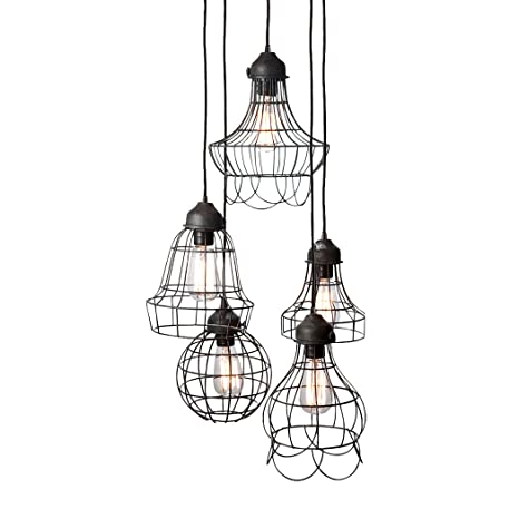 Amazon.com: Gilded Barn alambre Cinco – Lámpara de techo ...