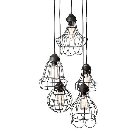 Lazy Susan Wire Five Pendant Lamp