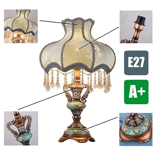 WYHYQY Lámpara de Mesa, cerámica, lámpara de Mesa Vintage ...