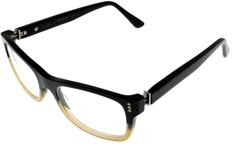 5485433277 Amazon.com  Cartier Premiere Pantos Prescription Eyeglasses Frame T8100902  Black Rectangular  Clothing