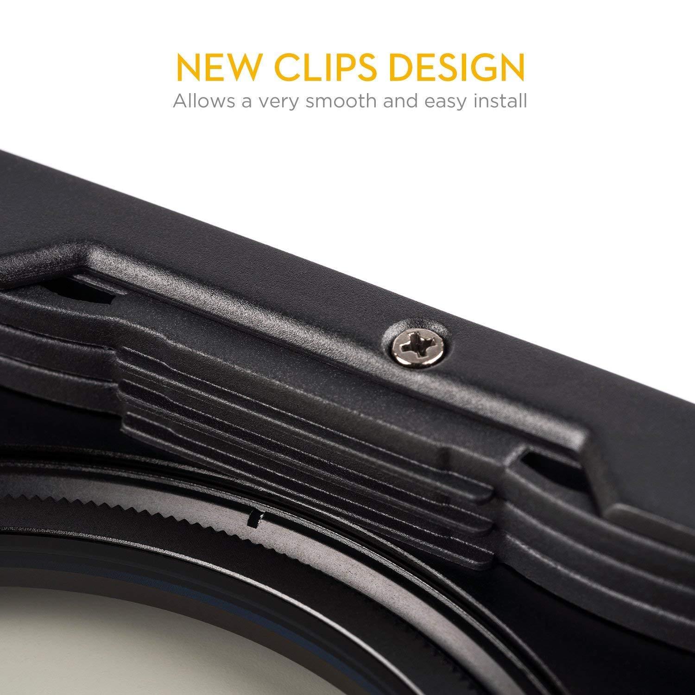 100 mm, Incluye Anillo Adaptador de 67 mm, 72 mm, 77 mm, 82 mm, NC CPL-86 mm NiSi V5-Pro Kit de Soporte para filtros de Sistema