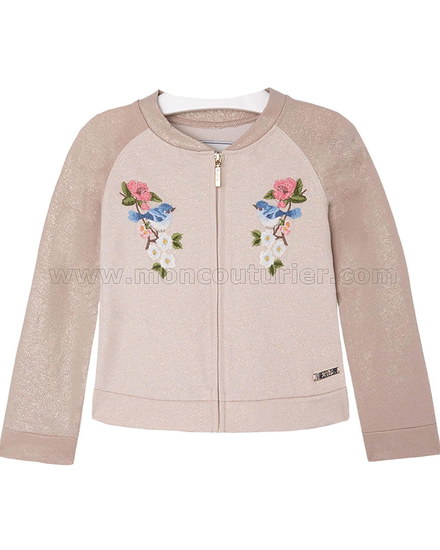 Mayoral Girl's Embroidered Sweatshirt, Sizes 2-9