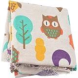 Souarts Textile Tissu Coton Motif Hibou pour Diy Patchwork Artisanat Couture 100cmx50cm 1PC