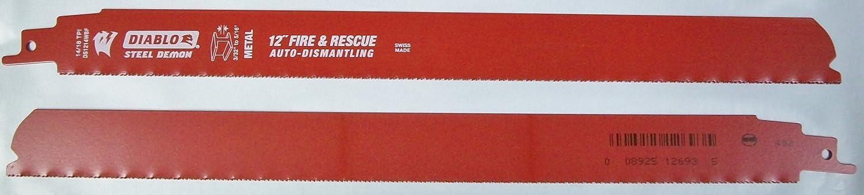 3 DIABLO 14//18 TPI FREUD FIRE//RESCUE RECIPRO SAW-Z-ALL BLADES SWISS MADE 12 IN