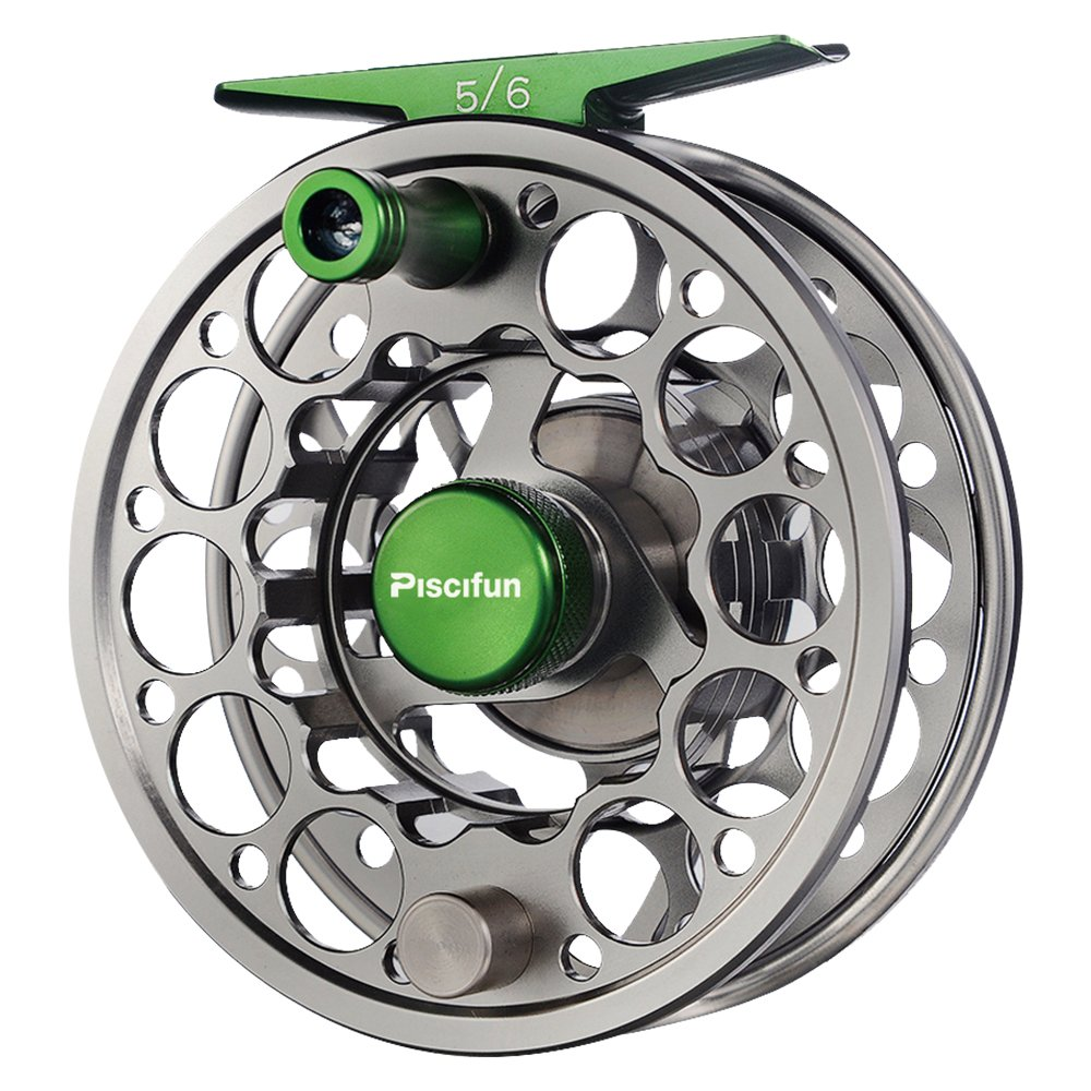 Piscifun Sword Fly Fishing Reel with CNC-machined Aluminum Alloy Body 5/6 Gunmetal
