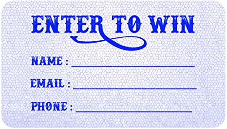 Amazon.com: Enter to Win Cards – Tarjeta de entrada con ...