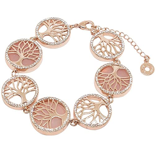 Fashion Jewelry 18k Real Rose Gold Filled Necklace Earrings Set Made With Swarovski Crystals Numerous In Variety