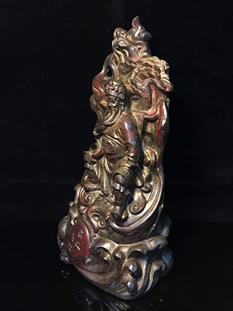 Chinese Tibet temple Bronze Buddha antique hand carving