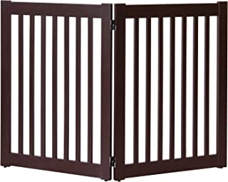 """product image for Dynamic Accents Amish Craftsman Highlander Series Solid Wood Pet Gates are Handcrafted 32"""" High - 2 Panel/Mahogany"""