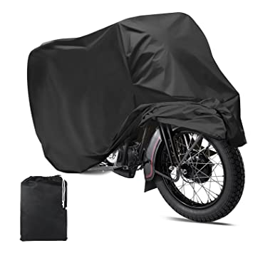 e55550de693 Mture Fundas para Motocicleta Impermeable Anti UV Cubierta para Moto  Protector contra Lluvia y Polvo para Motocicleta 265x105x125CM - Negro:  Amazon.es: ...