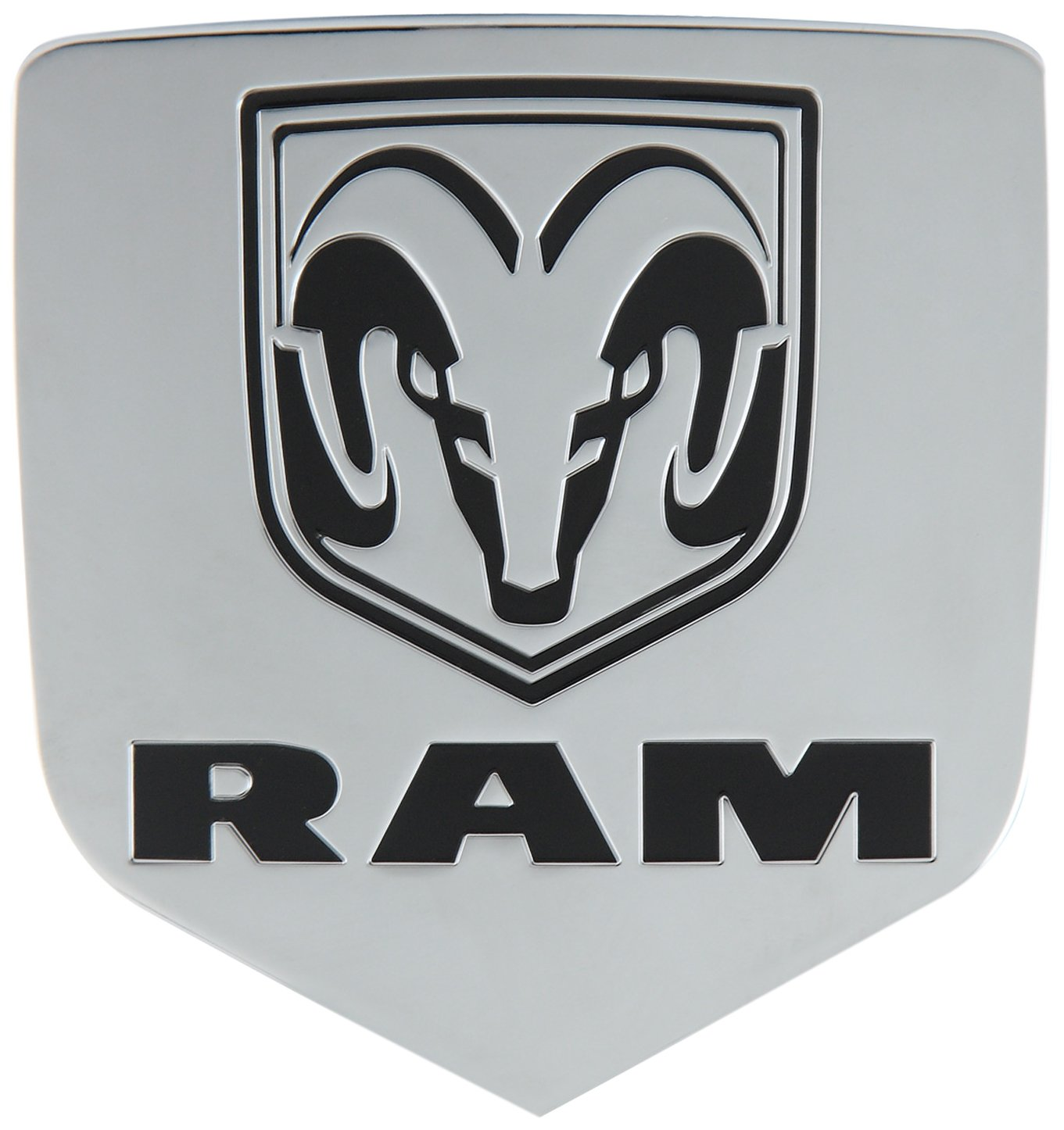Bully CR-311 Licensed Dodge RAM Logo Truck Trailer Tow Hitch Receiver Cover Exterior Accessories fits 2 Inch Receivers and Plugs - Genuine Licensed Accessory by Bully