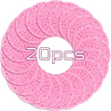 Facial Sponges, Compressed Natural Facial Sponge for Face Cleansing, Facial Exfoliating, Makeup Removal (20pcs, Pink)
