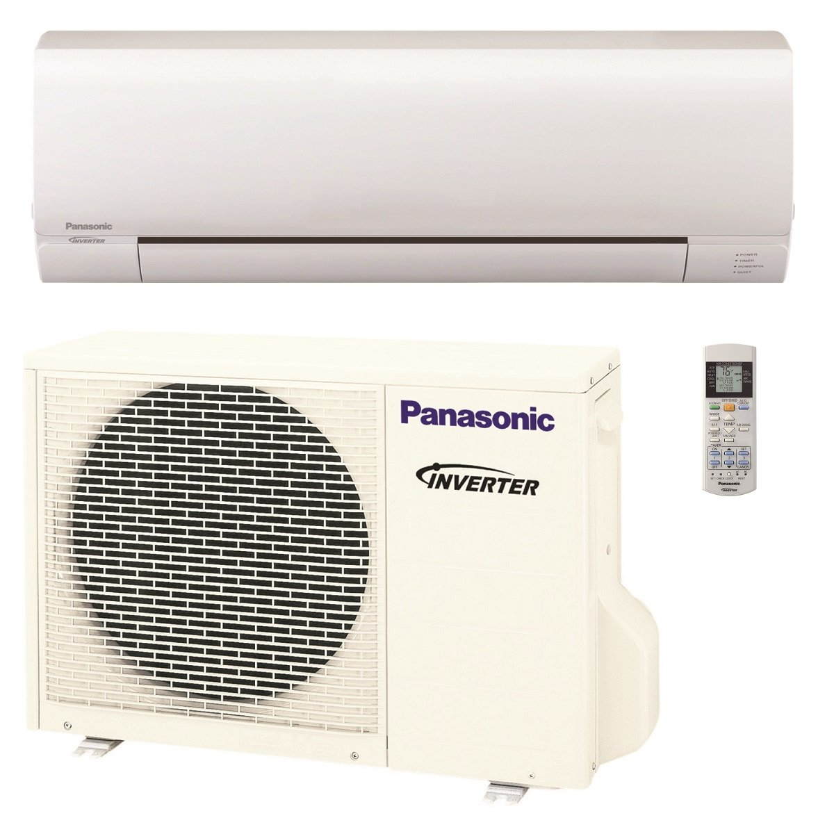 Panasonic 12,000 BTU Ductless Mini Split Air Conditioning and Heating System, Indoor and Outdoor Set with Wireless Remote (208/230V)