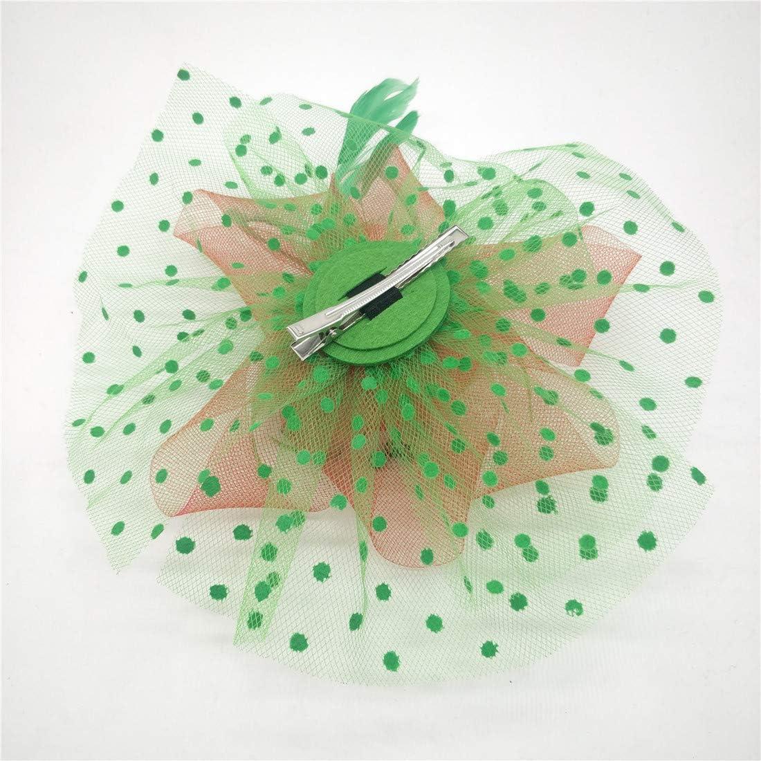 Ahugehome Fascinator Hair Clip Headband Pillbox Hat Flower Wedding Cocktail Tea Party