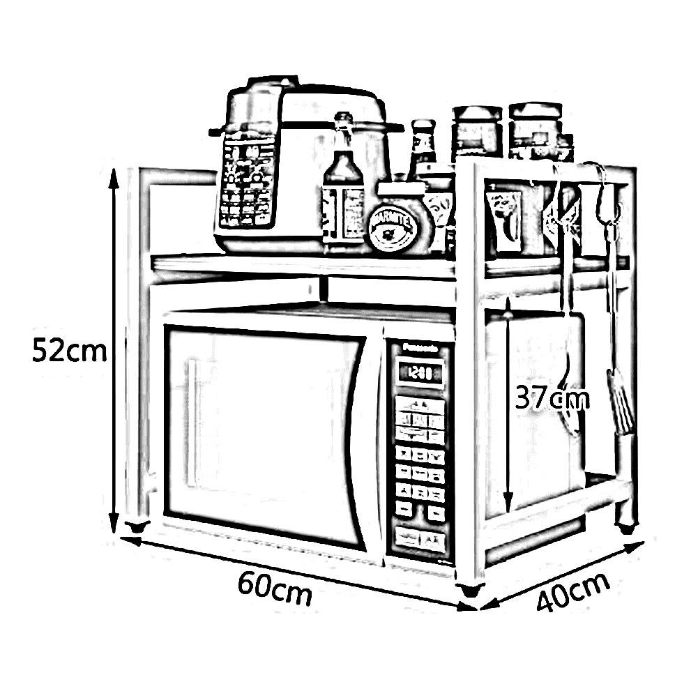 WENZHE Estantería Cocina Baldas Horno Microondas Condimento De Pie Multifunción Clasificar, De Madera, 6 Colores, 60 × 40 × 52cm (Color : C): Amazon.es: ...