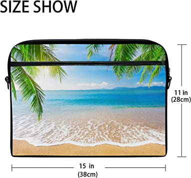 Shockproof Laptop Bag States Lighthouse Beach Palms Durable Case Sleeve Cushion Protective Laptop Briefcase