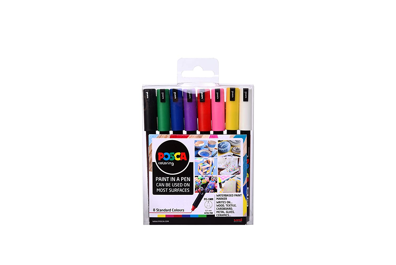 "POSCA 153544841 PC-1MR ""Paint in a Pen -Starterset, 0,7 mm ultra-feine Spitze, wasserbasierte Filzstifte, 8 Farben B076MWFG1Z | Neues Produkt"