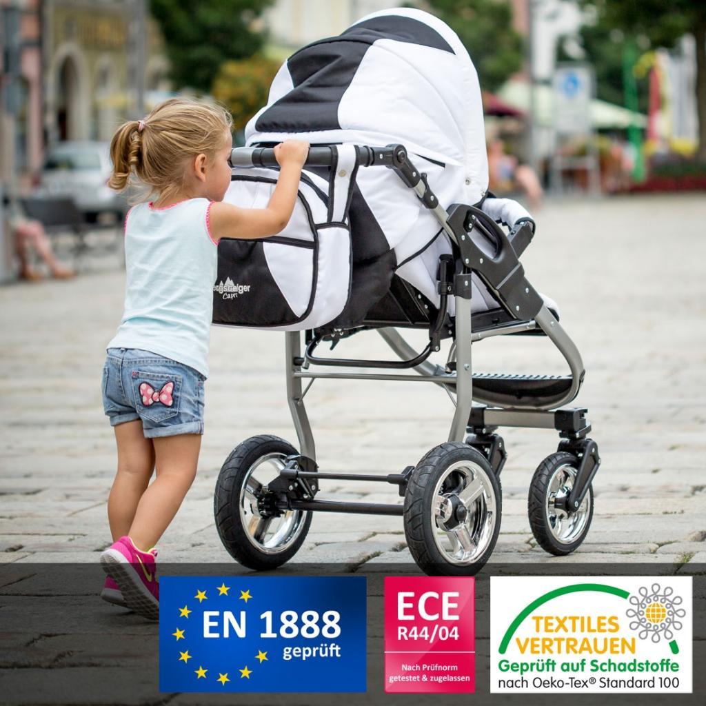 bergsteiger capri kinderwagen 3 in 1 kombikinderwagen megaset 10 teilig inkl babyschale. Black Bedroom Furniture Sets. Home Design Ideas