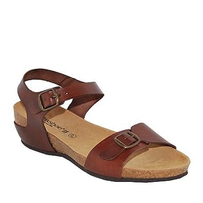 75ec97255f9 Amazon.com   Relaxshoe Bios 44405 Sandals, Cafe, 38 M/B   Platforms ...