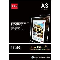 RTL49 - 10 hojas x A3 Paquete con muestras de pedido (10 hojas) diseño de Lit papel - / Lite de pantalla para luz LED…