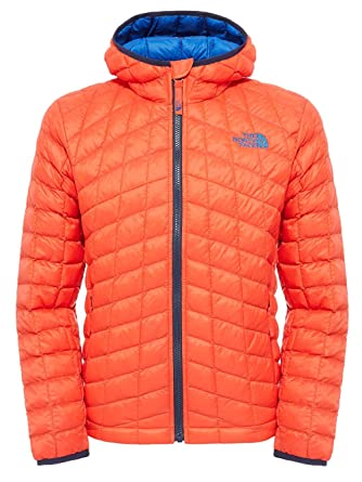 THE NORTH FACE B Thermoball Hoodie – Veste pour Enfant, Rouge, Taille YM eeb24f9ac437