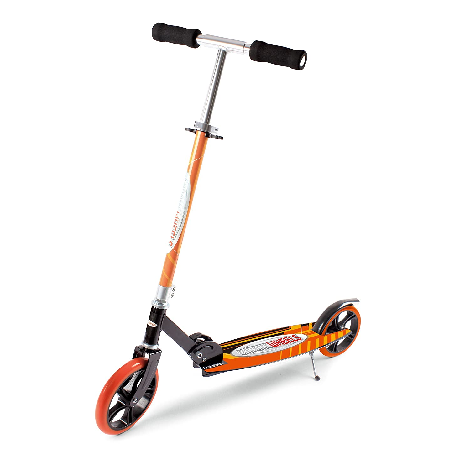 Chrome Wheels Dash Glidekick Jumbo Scooter Foldable With 8 PU Wheels -