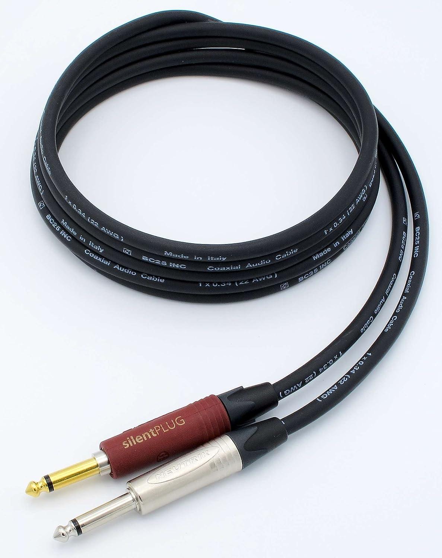 X-LEAD IC65PN030BK Serie PLATINUM, cable de instrumento de muy alta calidad para guitarra, bajo y teclados, punto de referencia para aplicaciones ...
