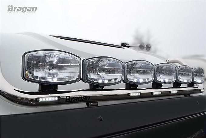 Volvo FH Series 2 & 3 Globetrotter Xl Barra de techo + LED x 7 & Ovalado Lunares x6: Amazon.es: Coche y moto
