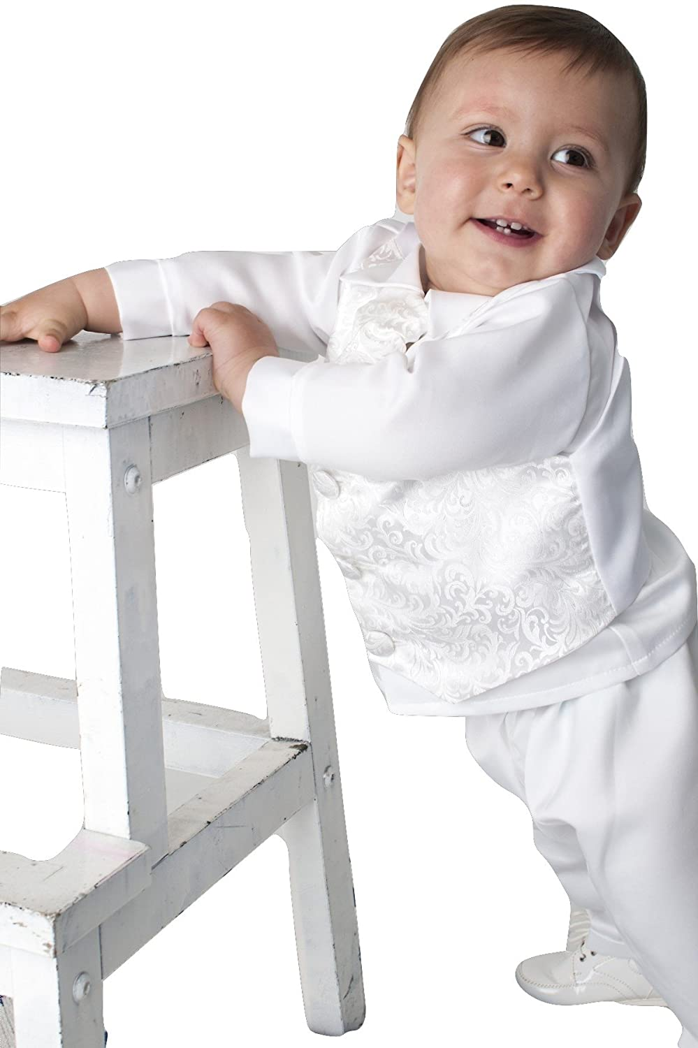 Baby Boys Christening Outfit Ivory 3-6 Months