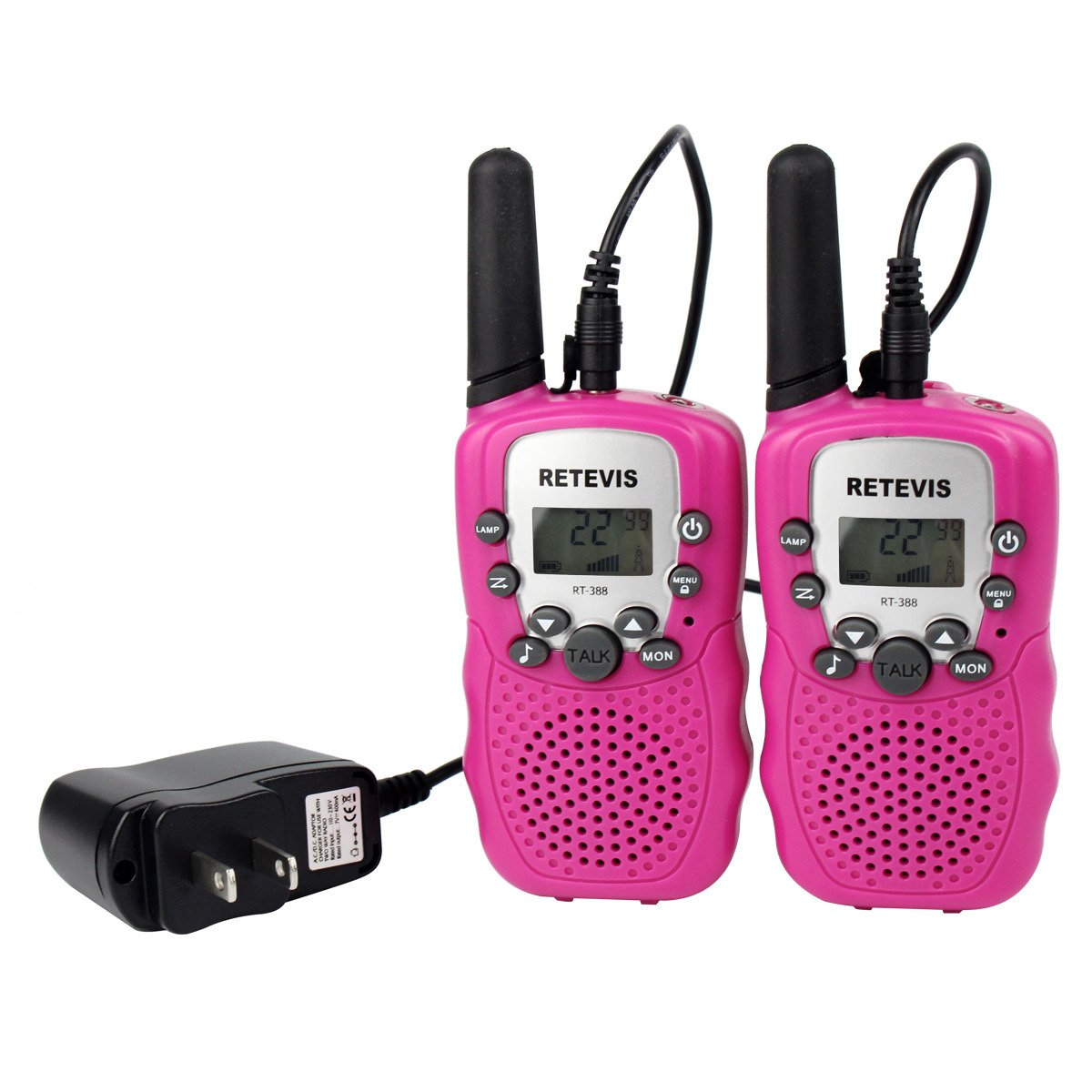 HM2 Children's Walkie-Talkie, Rechargeable Mini 2pcs Parent-Child Interactive Outdoor Toys, Suitable for Children's by HM2 (Image #5)
