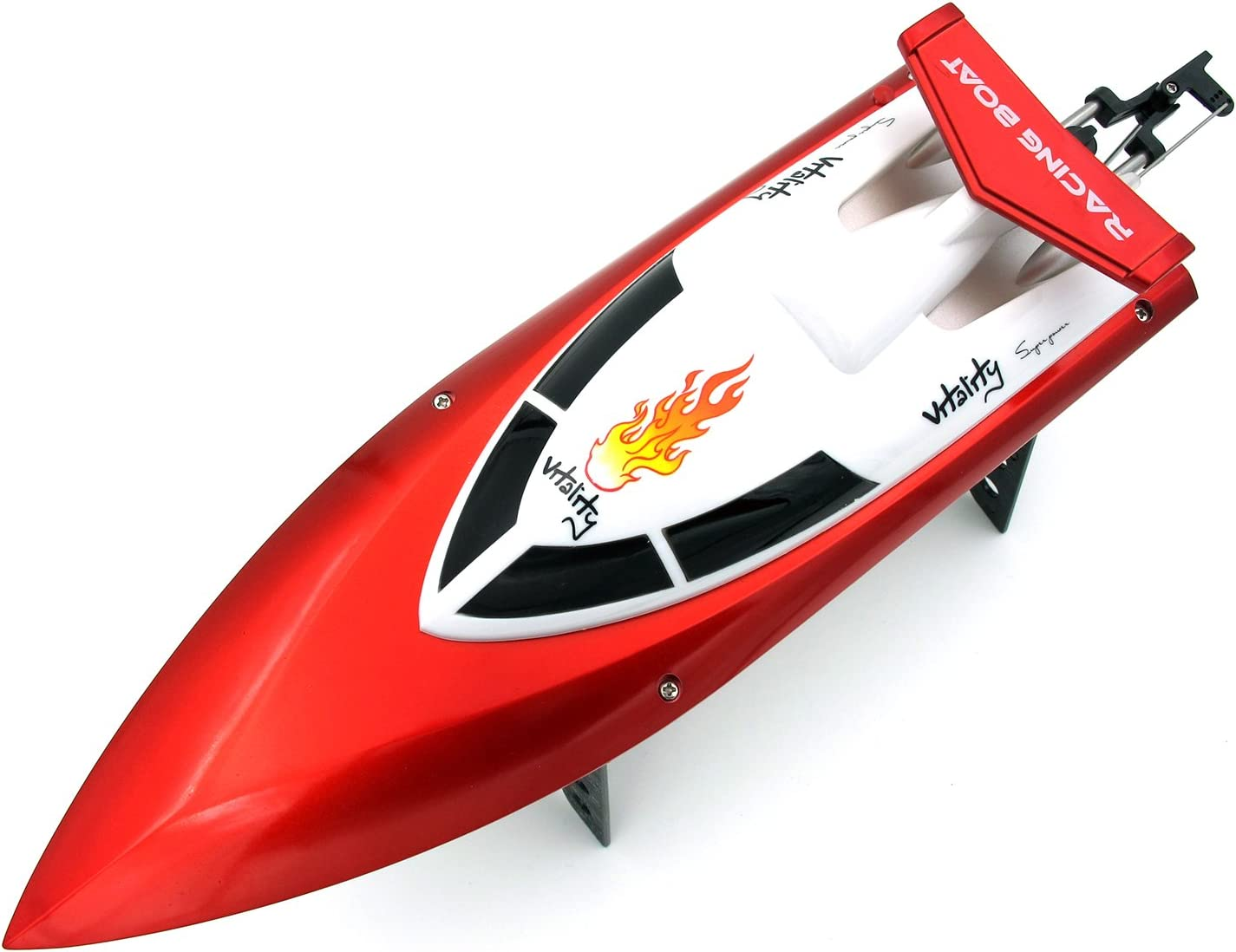 Red DOPLUS Auto-Flip RC Boat for Kids /& Adults 2.4GHz Wireless Remote Control High Speed Racing Boat