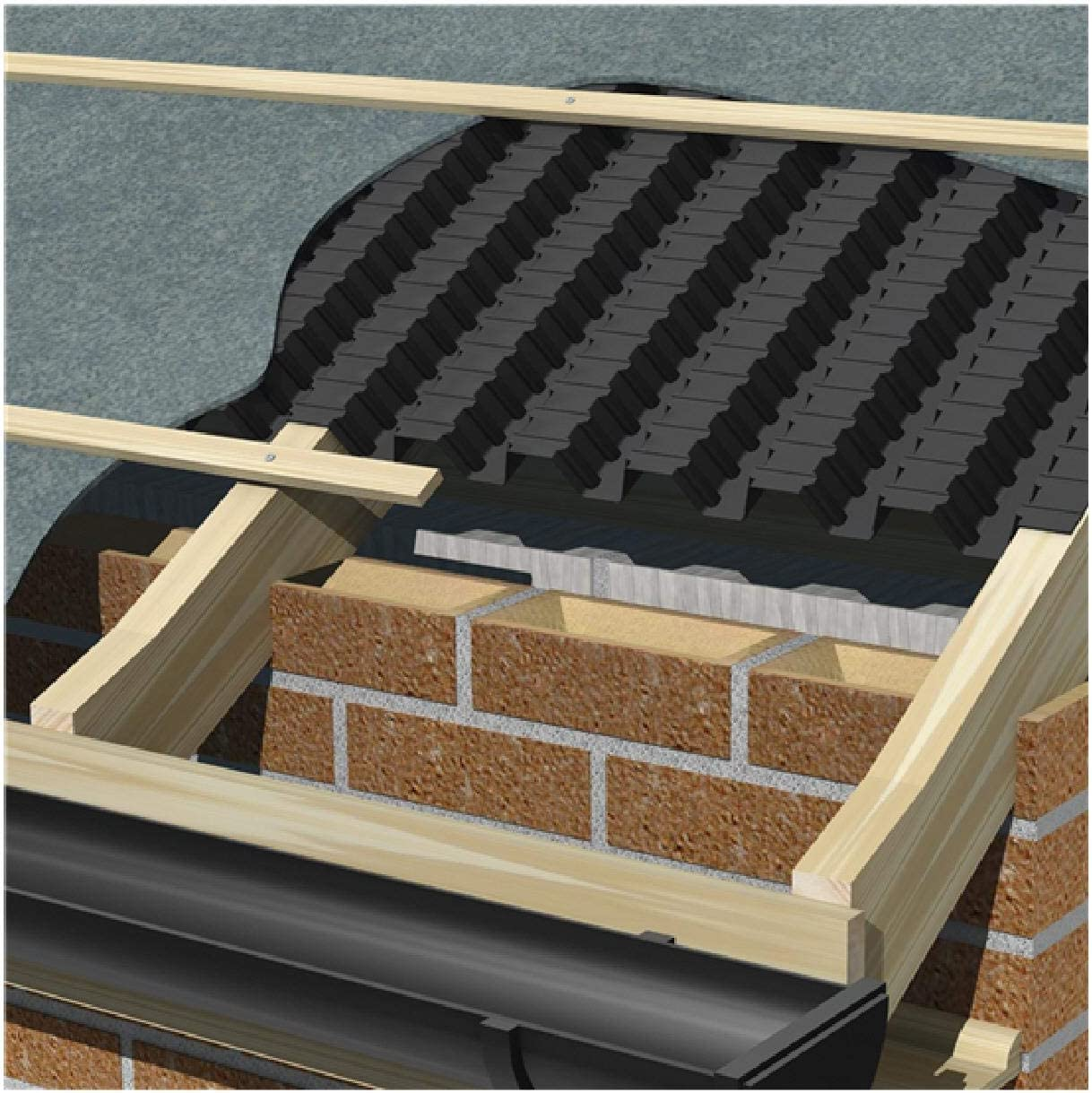 Manthorpe Continuous Roll Eaves Panel Vent 325mm x 6 Metres for Roof Ventilation
