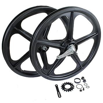 BMX Skyway Tuff II Wheel 2 Mag WHEEL REAR AXLE SET